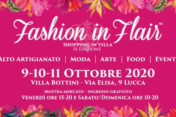 Dal 9 all'11 ottobre a Villa Bottini gli artigiani di Fashion in Flair