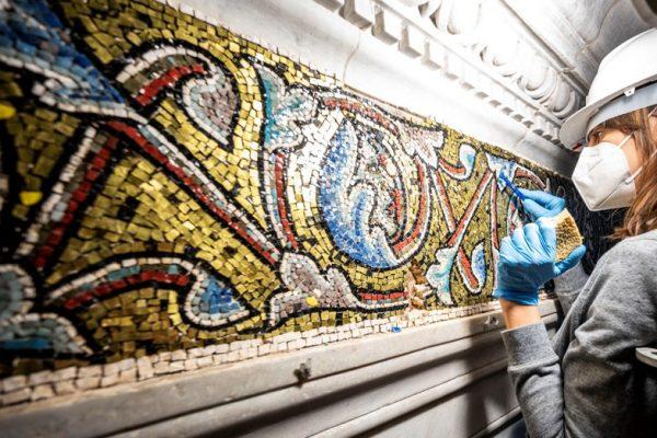 Il restauro dei mosaici del Battistero di San Giovanni a Firenze