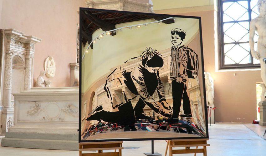 'Non sono un murales – Segni di comunità', svelata l'opera di interpretata a Firenze da 30 studenti del Liceo Artistico di Porta Romana